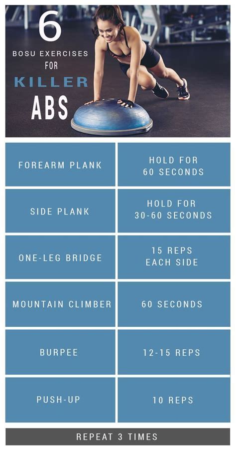 6 Ab Exercises To Do With A Bosu Ball Bosu Workout