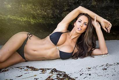 Janna Breslin Bikini Fitness Hair Eyes Open