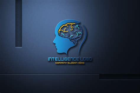 artificial intelligence logo design  psd template