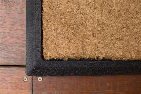 Large Coconut Door Mats by Plain Coir Scroll Rubber Door Mat 40 X 120cm