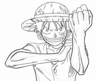Luffy Piece Coloring Pages Monkey Character Printable