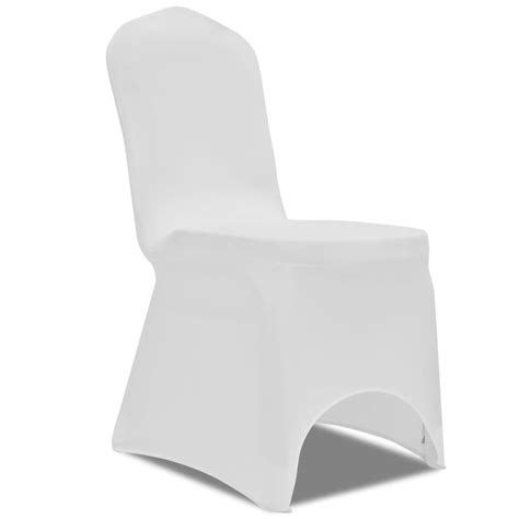 housse de chaise pour mariage vidaxl co uk chair cover stretch white 50 pcs