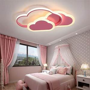 Modern, Pink, Cloud, Baby, Kids, Ceiling, Light, Ceiling, Lamps, Modern, Metal, Asian, Bedroom, Led, Lights