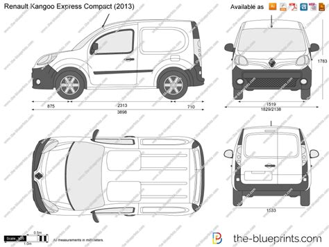renault kangoo dimensions the blueprints com vector drawing renault kangoo