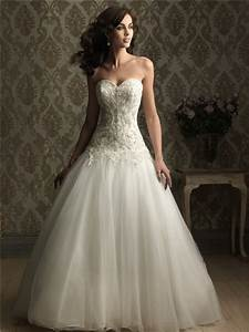 fitted ball gown sweetheart satin tulle wedding dress with With satin fitted wedding dress