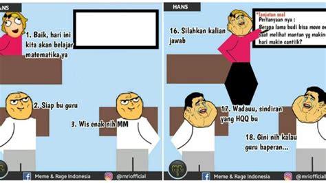 meme comic percakapan pelajaran matematika ala anak