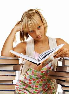 Sad, School, Girl, With, Books, Stock, Image, Image, Of, Beautiful