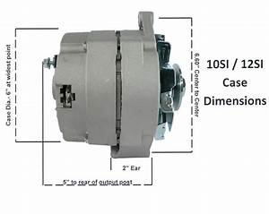 New Chevy High Output 105 Amp Alternator 3 Wire 65 85