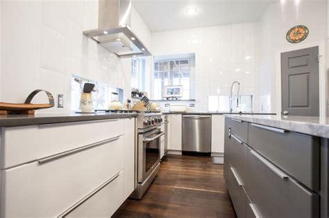white slab kitchen cabinet doors modern white and grey slab door kitchen