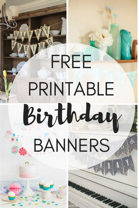 printable happy  birthday banners birthdaybuzz