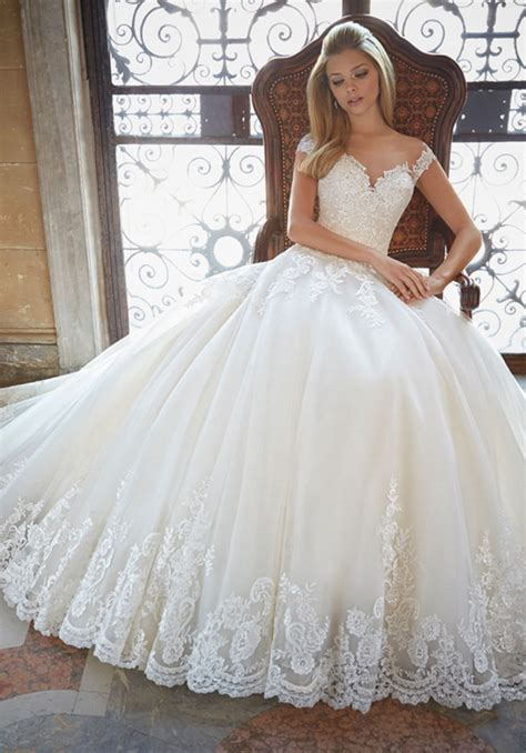55 Most Beautiful White Wedding Dress Ball Gown Ideas For