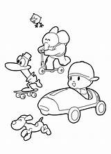 Pocoyo Coloring Pages Rush Gold Friends California Colouring Getcolorings Printable Sheets Getdrawings sketch template
