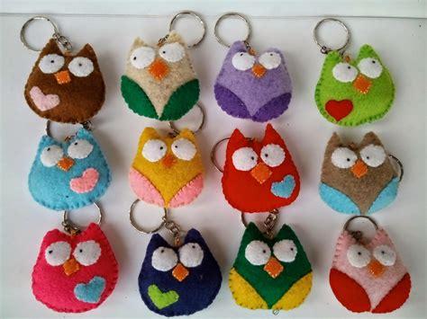loexie gantungan kunci flanel burung hantu imut owl felt
