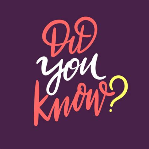 Did You Know Illustrations, Royalty-Free Vector Graphics ...