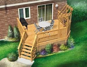 Cette Jolie Terrasse En Bois Sur U00e9lev U00e9e  U00e0 Un Niveau Est