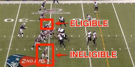 nfl   hand signal  patriots eligible receiver play