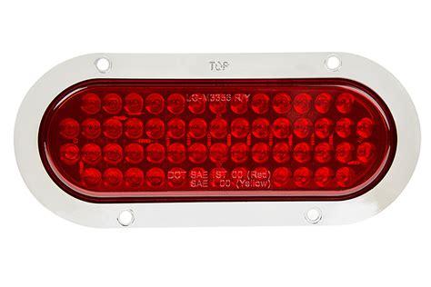 led truck lights oval led truck trailer lights w built in flange 6 quot led