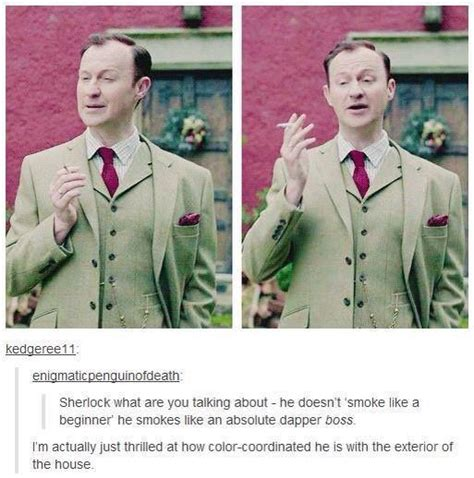 sherlock funny holmes mycroft bbc fandom smoking ocd episode coordinated colour hannah he moriarty jim comment quotes favim last artikel