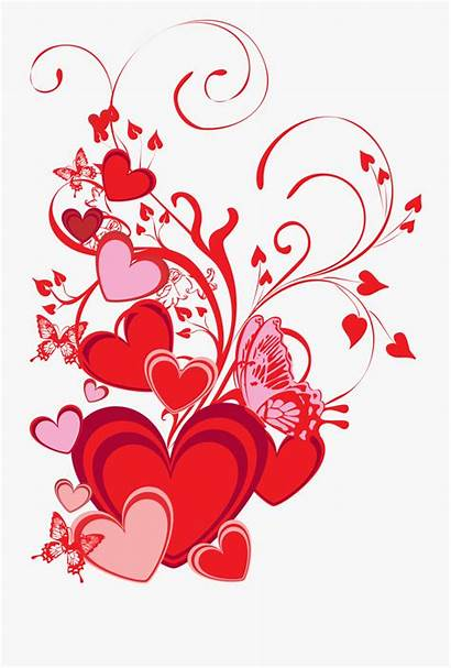 Card Clipart Valentines Heart Butterflies Graphic Library