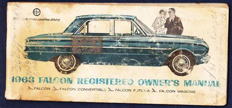 sell  ford falcon owners manual  pages fair