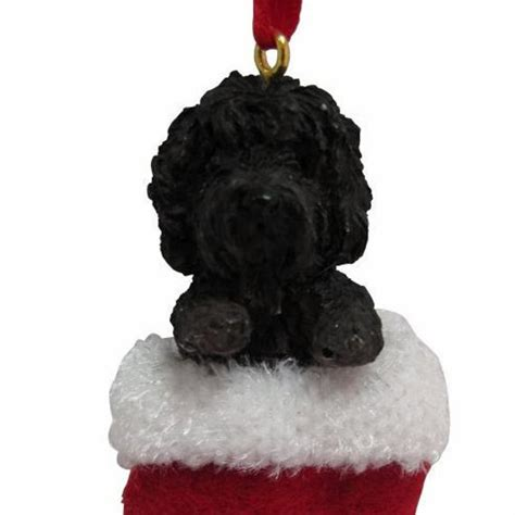 labradoodle holiday ornaments labradoodle black ornament handpainted and
