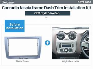 High Quality 2 Din Car Radio Fascia For 2008   Alfa Romeo Mito Dash Dvd Player Stereo