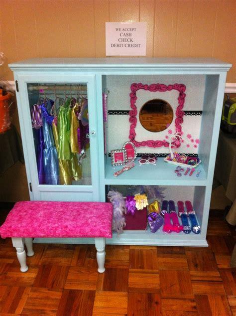 dress up closet from oak entertainment center kid s room