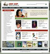 simple online shopping website templates