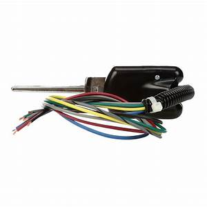 7 Wire Harness  Turn Signal Switch  Black Polycarbonate