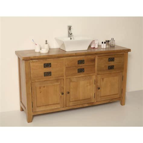 Rustic Bathroom Vanity Units by Valencia Rustic Oak Large Bathroom Vanity Unit Click Oak