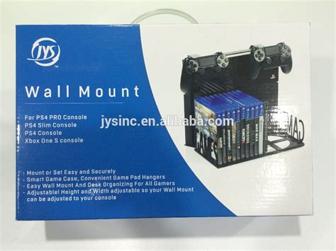 mount ps4 under desk ps4 slim and ps4 pro wall mount and desk organizer buy