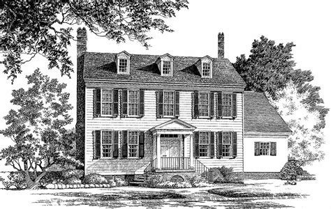 classic center hall colonial wp architectural