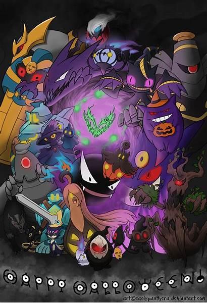 Pokemon Halloween Wallpapers Ghost Deviantart Fan Swirl