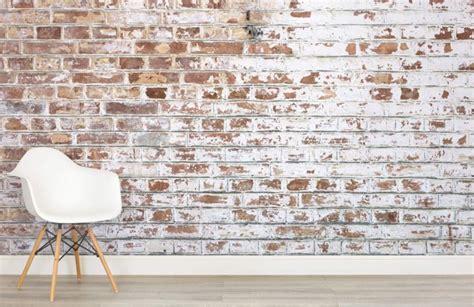 5x bakstenen muur van behang - Stripesandwalls.nl