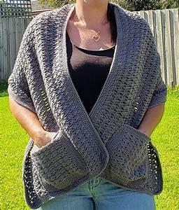 12 Stylish Crochet Pocket Shawl Patterns