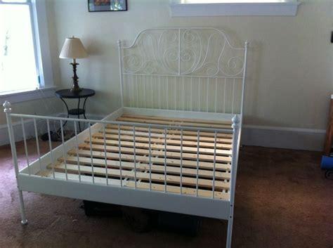 ikea leirvik bed frame ikea leirvik slatted bed frame white 120 was 220 new