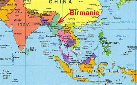 Thailande Dans La Carte Du Monde by Info Thailande Carte Asie