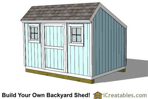 Saltbox Shed Plans 8x12 by 8x12 Saltbox Shed Plans Storage Shed Plans Icreatables
