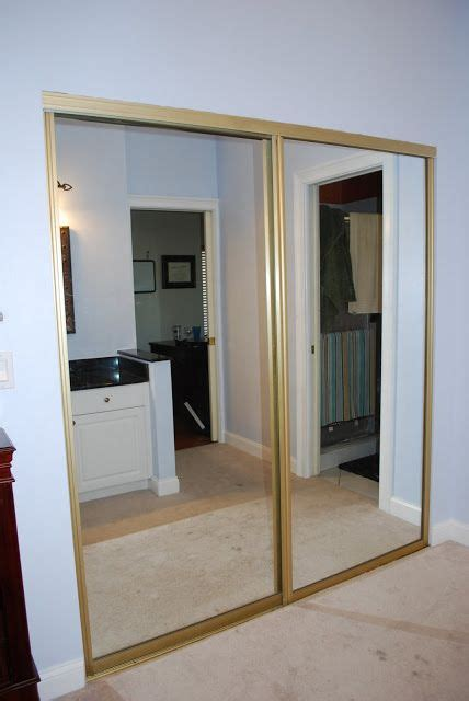 Sliding Door Mirror Closet by Spray Paint The Brass On The Mirror Closet Doors Kara S
