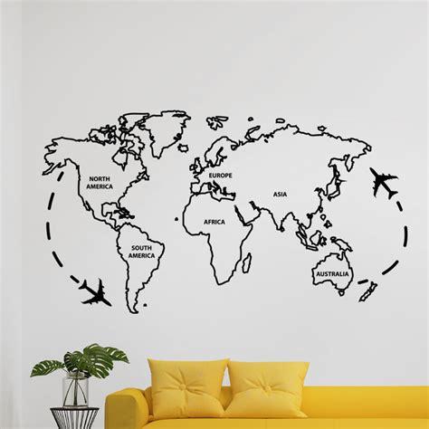 sticker carte du monde ii stickers villes et voyages