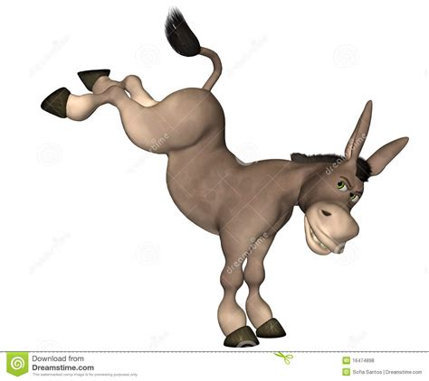 cartoon mule donkey cartoon royalty  stock
