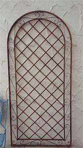 Rankgitter Metall 200 Cm : rankgitter spalier wand rankhilfe sichtschutz metall provence rost gartengestaltung rankgitter ~ Bigdaddyawards.com Haus und Dekorationen
