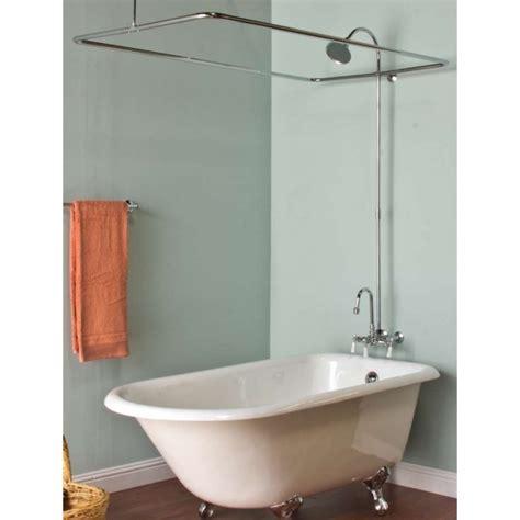clawfoot tub shower curtain rod oval shower curtain rod for clawfoot tub bathtub designs