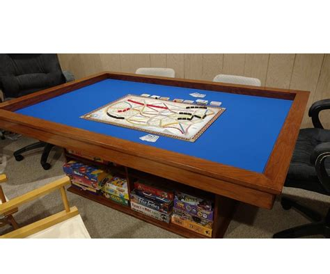 gaming table  built  game storage