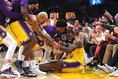 Lakers Lebron James Nba Point Spurs Basketball