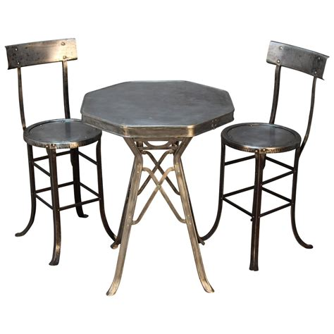 bistro table and chair set industrial bistro table and chair set at 1stdibs