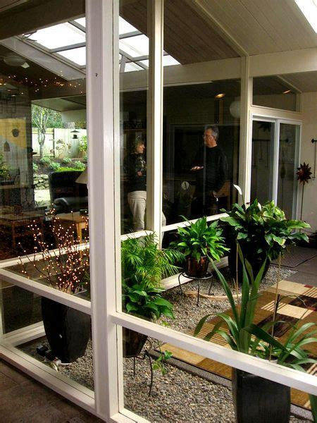 rummer mid century modern home  atrium modern landscaping indoor courtyard atrium garden