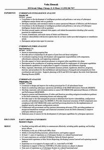 Current Resume Examples Cyberspace Analyst Resume Samples Velvet Jobs