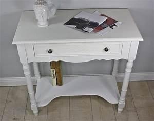 Beistelltisch Weiß Schublade : konsole beistelltisch wei antik holz ~ Sanjose-hotels-ca.com Haus und Dekorationen