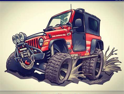 cartoon jeep wrangler jeep wrangler cartoon commission by dazzlarock